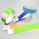 100TYVEK19-OR-Lot de 100 bracelets à usage unique en Tyvek numéroté - Or doré