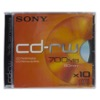 10CDR/80RW-Lot de 10 CD-RW SONY réenregistrable 80 min (700MB) / BC - vitesse 4X