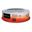 25DVDR-Pack de 25 DVD+R SONY 4,7 Go / Tour spindle - vitesse 16X