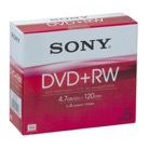 5DVDRW-Lot de 5 DVD+RW SONY réenregistrable 4,7 Go / Boite ''Slim Case'' - 4x