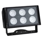 CAMELEON-FLOOD6Q4-Projecteur 4-en-1 Led 6 x 5W SHOWTEC Cameleon Flood 6 Q4 RGBW IPX65