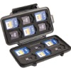 PC0915-Etui rigide en ABS PELI pour 12 cartes mémoire Secure Digital SD